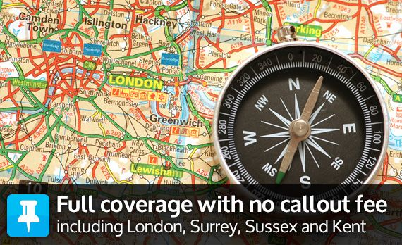 Full coverage with no callout fee including London, Surrey, Sussex and Kent