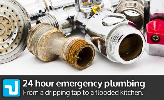 24 hour emergency plumbing from a dripping tap to a flooded kitchen