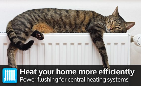 Heat your home more efficiently - Power flushing for central heating systems